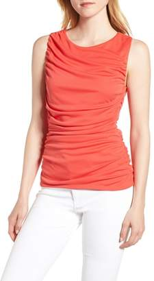 Trouve Shirred Sleeveless Top