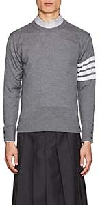 Thom Browne Men's Block-Striped Wool Sweater - Gray