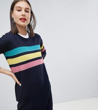 Esprit Rainbow 3 Stripe Jumper Dress