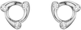Georg Jensen Magic 18ct white-gold and diamond earrings