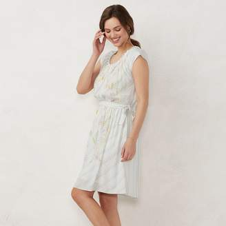 Lauren Conrad Women's Pleat Neck Dress