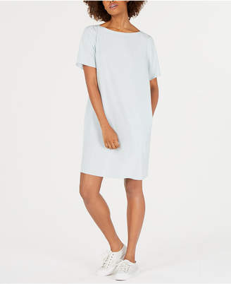 Eileen Fisher Boat-Neck Tencel and Recycled Polyester T-Shirt Dress
