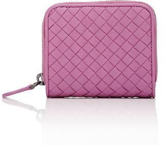 Bottega Veneta Women's Intrecciato Zip-Around Wallet $550 thestylecure.com