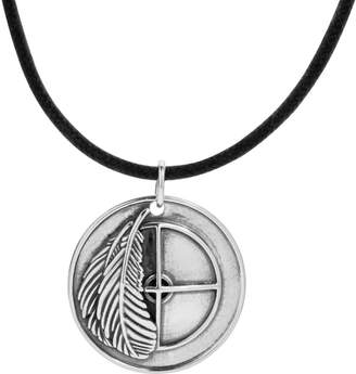 American West Sterling Earth Spirit Medallion Necklace