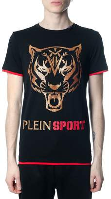 Philipp Plein Fast Black And Gold T-shirt