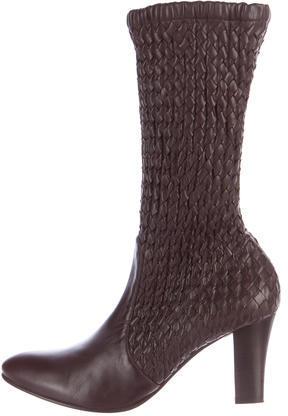 Bottega VenetaBottega Veneta Intrecciato Mid-Calf Boots