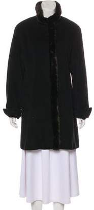 Ellen Tracy Wool Knee-Length Coat
