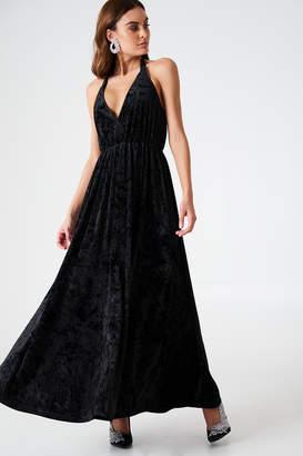 Na Kd Party Deep V-neck Velvet Dress