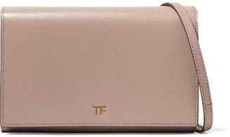 Tom Ford Textured-leather Shoulder Bag - Beige