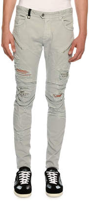 Just Cavalli Distressed Motorcycle Jeans