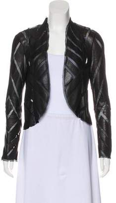 Haute Hippie Leather-Accented Evening Jacket