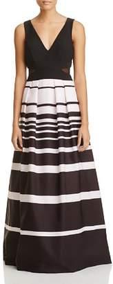 Aqua Mesh Inset Stripe Gown - 100% Exclusive