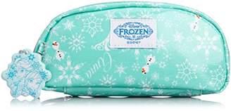 Disney (ディズニー) - [ディズニーバッグ] DISNEY BAG アナと雪の女王 ラミネートバッグシリーズ 横長ポーチ D3241 スカイ (スカイ)