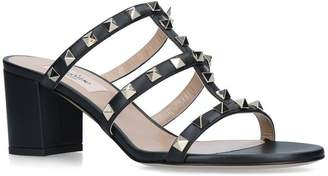 Valentino Leather Rockstud Mules 60