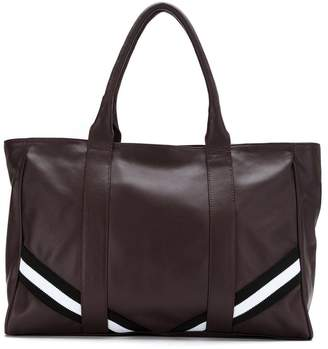 M·A·C Mara Mac leather tote with striped detail