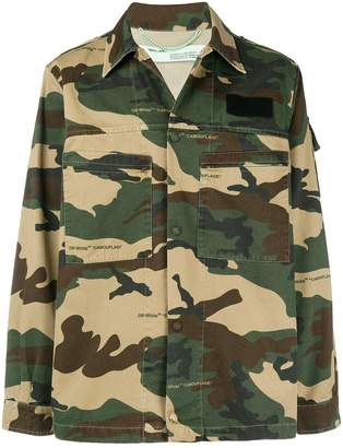 Off-White camouflage print jacket