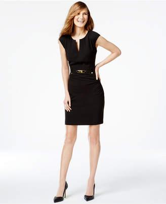 Calvin Klein Buckled Sheath Dress $109 thestylecure.com