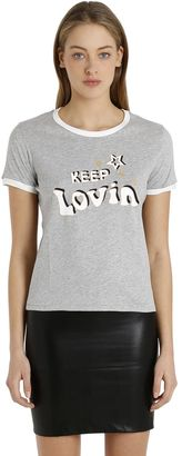 Printed Cotton Jersey T-Shirt Gigi Hadid $60 thestylecure.com