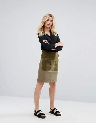 Max & Co. Max&Co Deflusso Utility Button Skirt