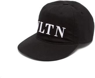 279c3ee2fee Valentino Vltn Embroidered Cotton Cap - Mens - Black