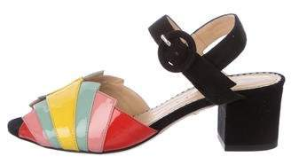 Charlotte Olympia Metro Suede Sandals