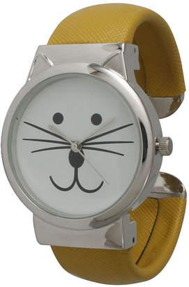 OLIVIA PRATT Olivia Pratt Womens Tomcat Dial Mustard Leather Cuff Watch 13895