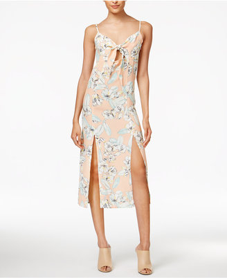 Minkpink Palm Springs Printed Tie-Front Dress $99 thestylecure.com