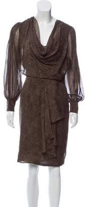 Les Copains Silk Printed Dress