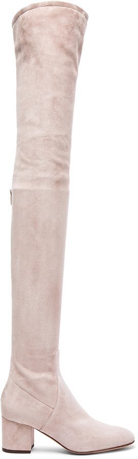 Valentino Suede Over The Knee Booties
