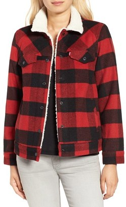 Levi's ® 'Boyfriend' Buffalo Check Trucker Jacket $178 thestylecure.com