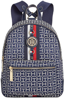 Tommy Hilfiger Jaden Monogram Jacquard Small Backpack $118 thestylecure.com