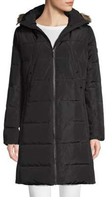 MICHAEL Michael Kors Faux Fur-Trimmed Down Coat