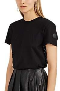 Noir Kei Ninomiya 6 MONCLER Women's Embellished Cotton Jersey T-Shirt - Black