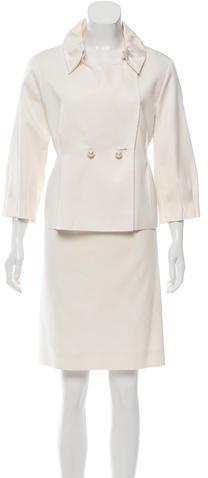 Saint LaurentYves Saint Laurent Pleated Two-Piece Skirt Suit