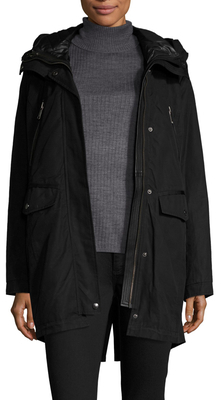 Stacey Leather Trimmed Parka $595 thestylecure.com