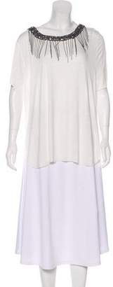 Ella Moss Embellished Short Sleeve Top w/ Tags