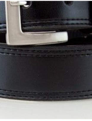 Basque NEW Leather hip belt Black