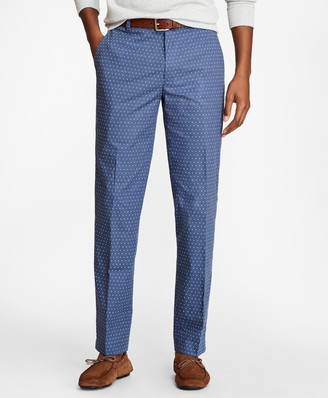 Brooks Brothers Milano Fit Melange Printed Chinos