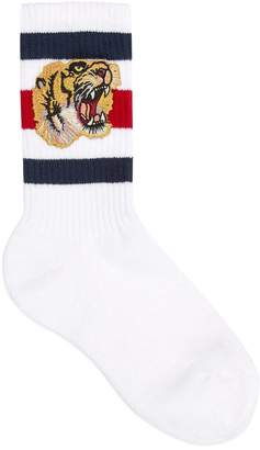 Stretch cotton socks with tiger $95 thestylecure.com