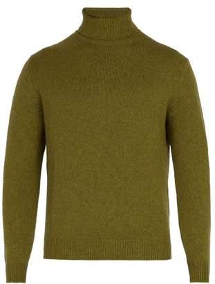 Massimo Alba Roll Neck Cashmere Sweater - Mens - Green