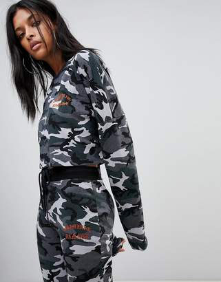 Criminal Damage Conway Cropped Camo Sweater