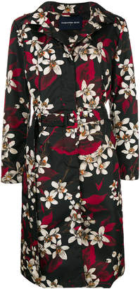 Samantha Sung floral print trench coat