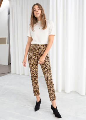d1dff35b9a And other stories Corduroy Leopard Print Trousers