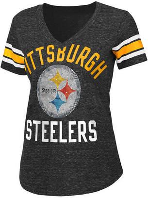 G-iii Sports Women's Pittsburgh Steelers Big Game Rhinestone T-Shirt