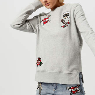 Karl Lagerfeld Women's Captain Patches Sweatshirt