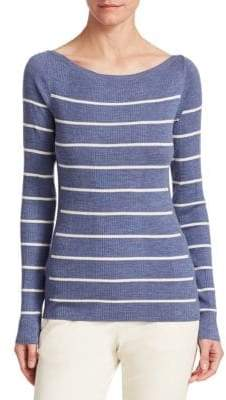 Theory Refined Stripe Wool Sweater