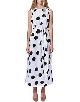 Kate Sylvester Polly Sleeveless Polka Dot Dress