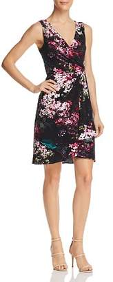 Adrianna Papell Floral Jersey Dress