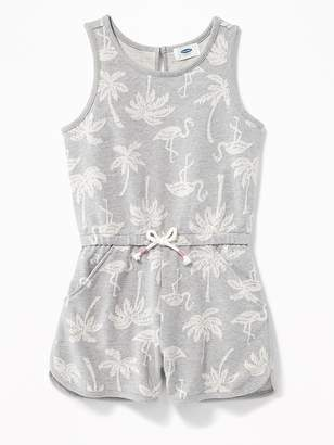 Old Navy Flamingo-Print French Terry Romper for Girls