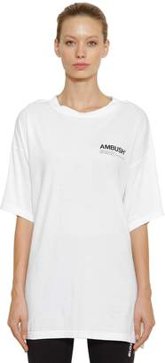 Ambush Oversize Logo Cotton Jersey T-Shirt